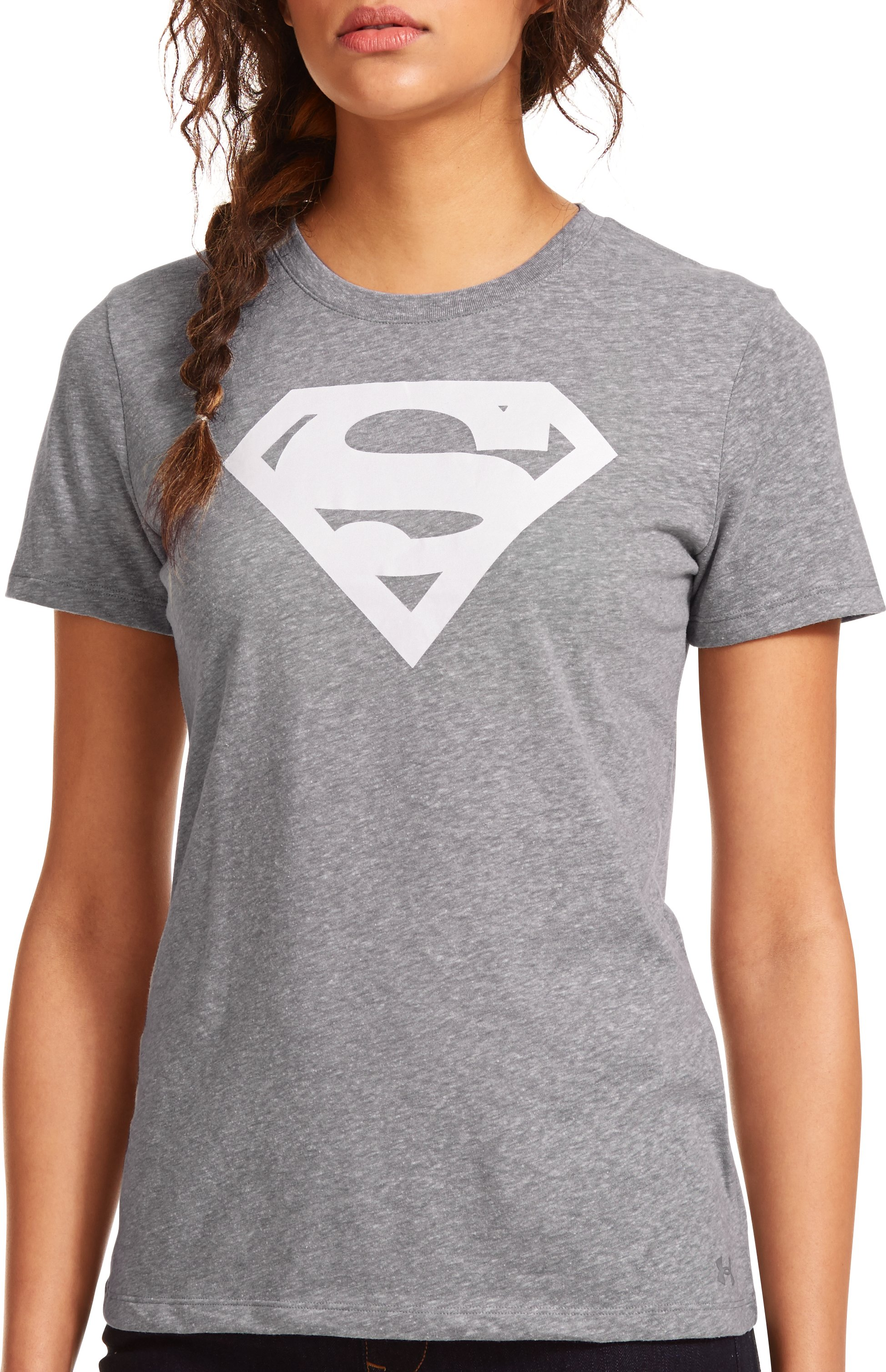 Women's Under Armour® Alter Ego Supergirl T-Shirt, True Gray Heather, Front
