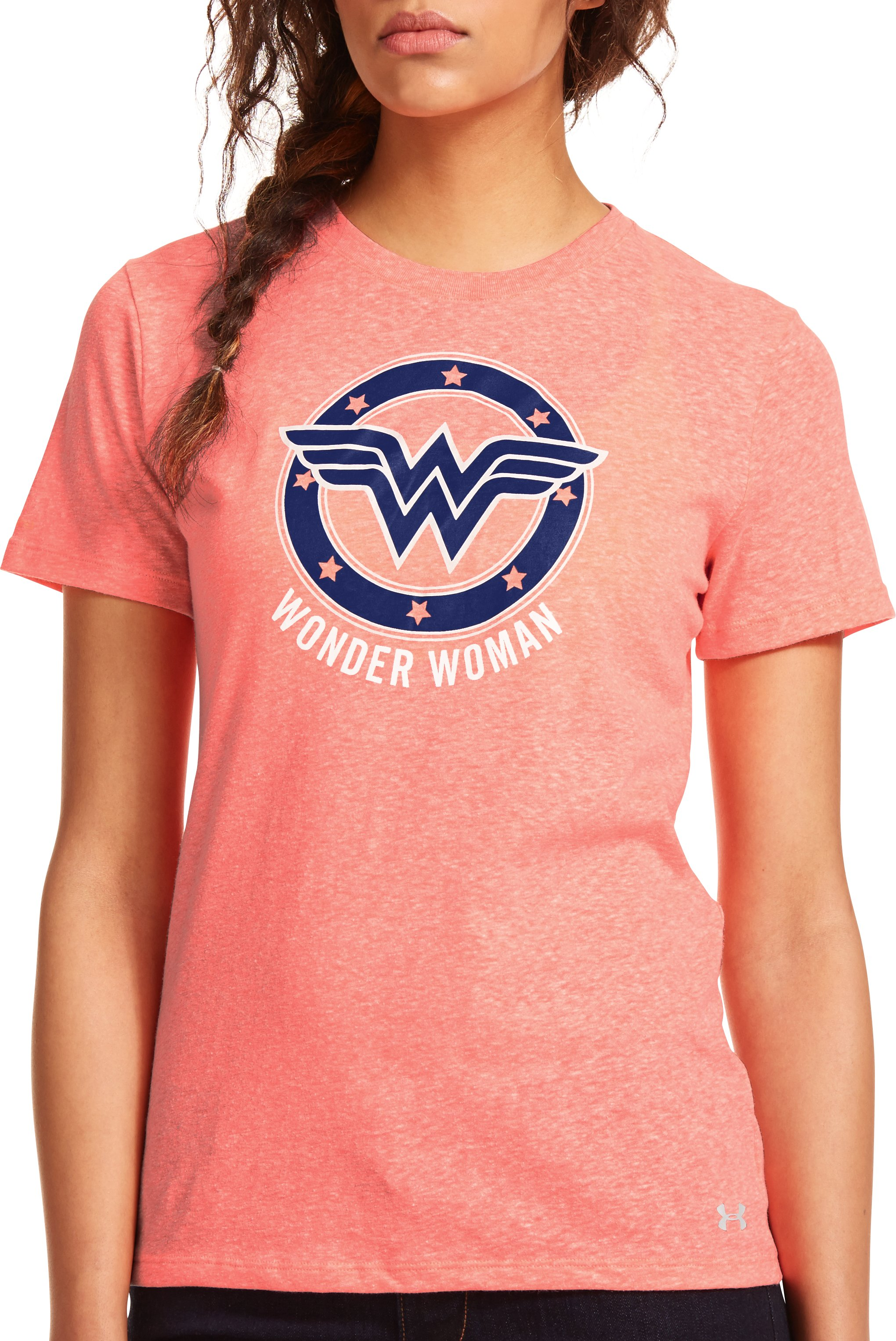 Women's Under Armour® Alter Ego Wonder Woman T-Shirt, BRILLIANCE, zoomed image