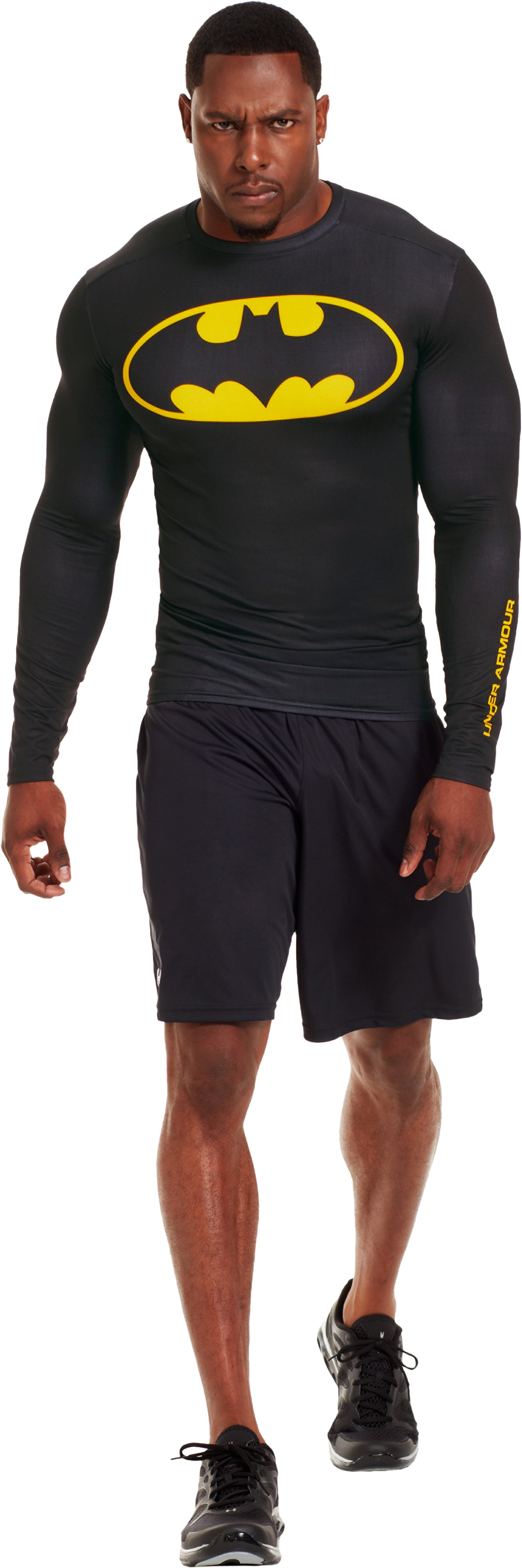Men's Under Armour® Alter Ego Compression Long Sleeve Shirt, Black , Front