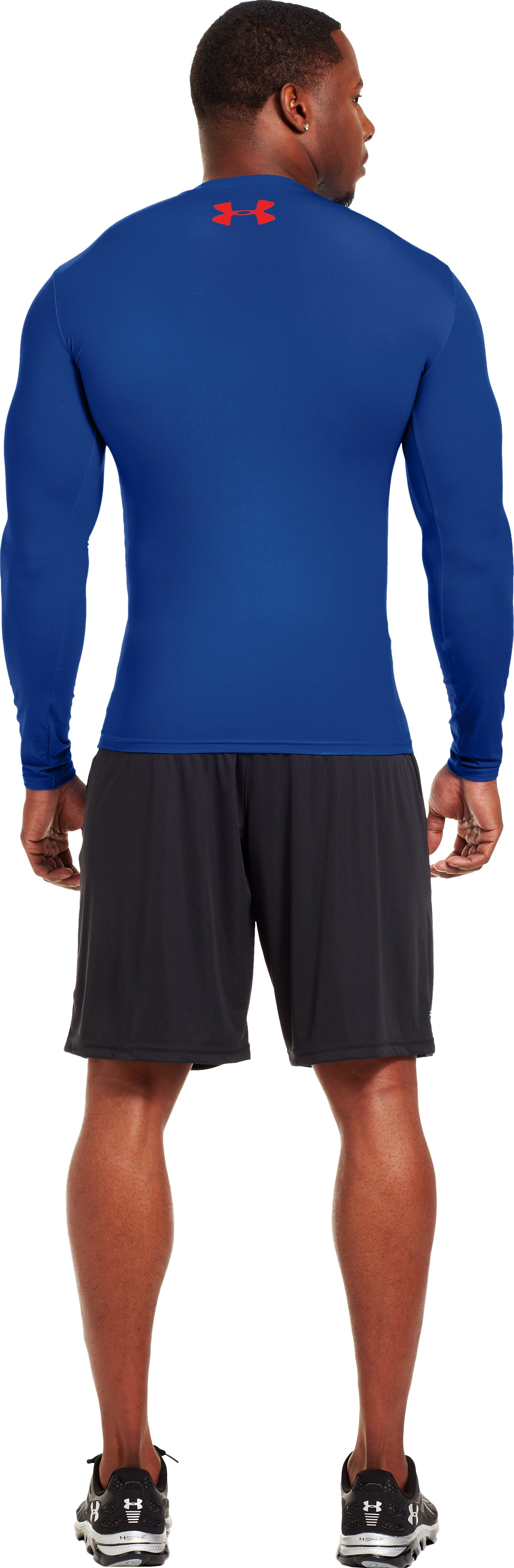 Men's Under Armour® Alter Ego Compression Long Sleeve Shirt, Royal, Back
