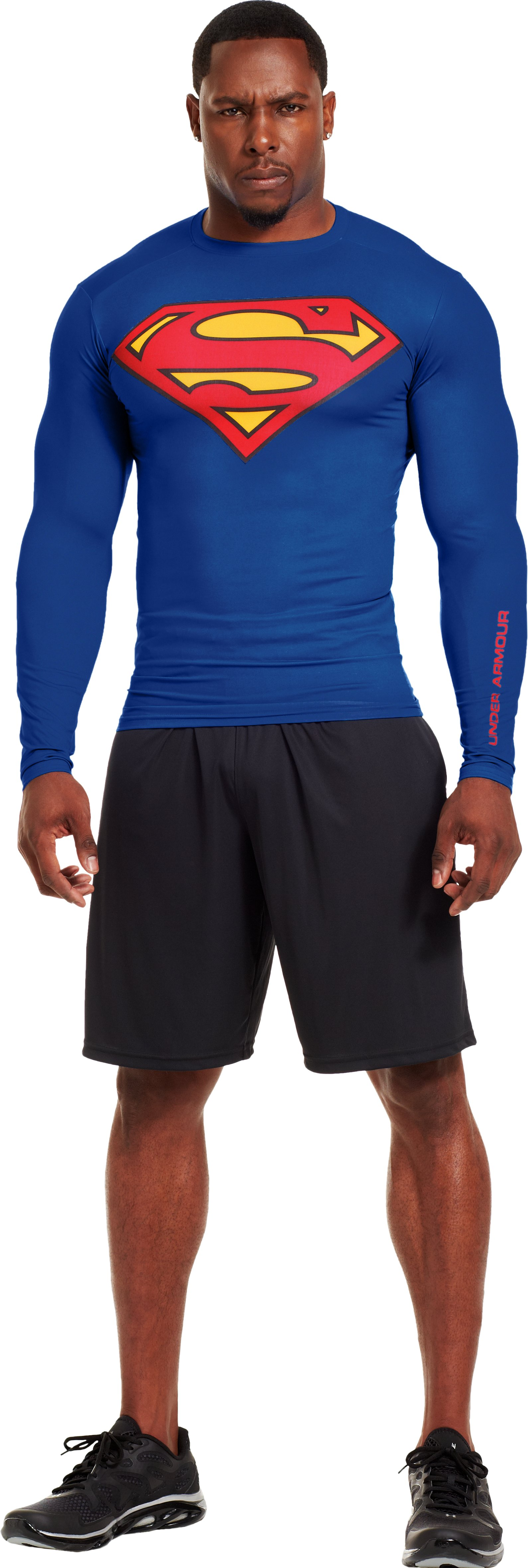 Men's Under Armour® Alter Ego Compression Long Sleeve Shirt, Royal, Front