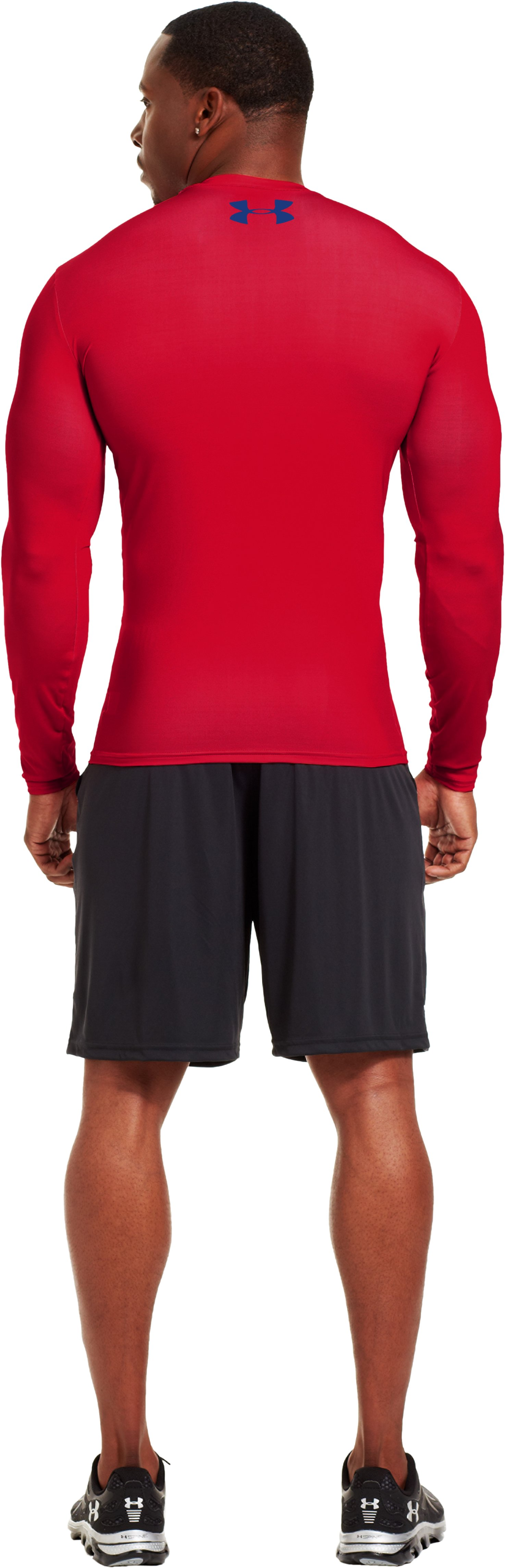 Men's Under Armour® Alter Ego Compression Long Sleeve Shirt, Red, Back