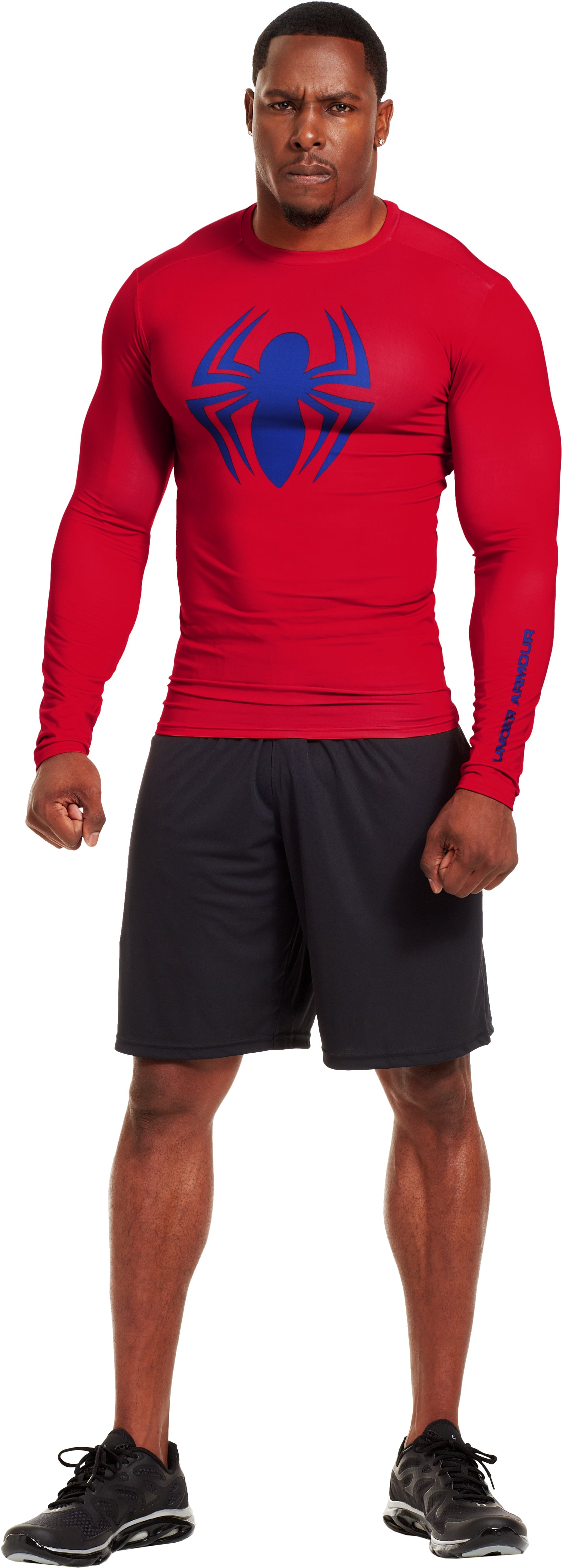 Men's Under Armour® Alter Ego Compression Long Sleeve Shirt, Red, Front