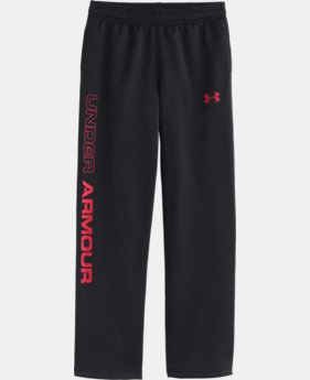 Boys' UA Storm Armour® Fleece Script Pants