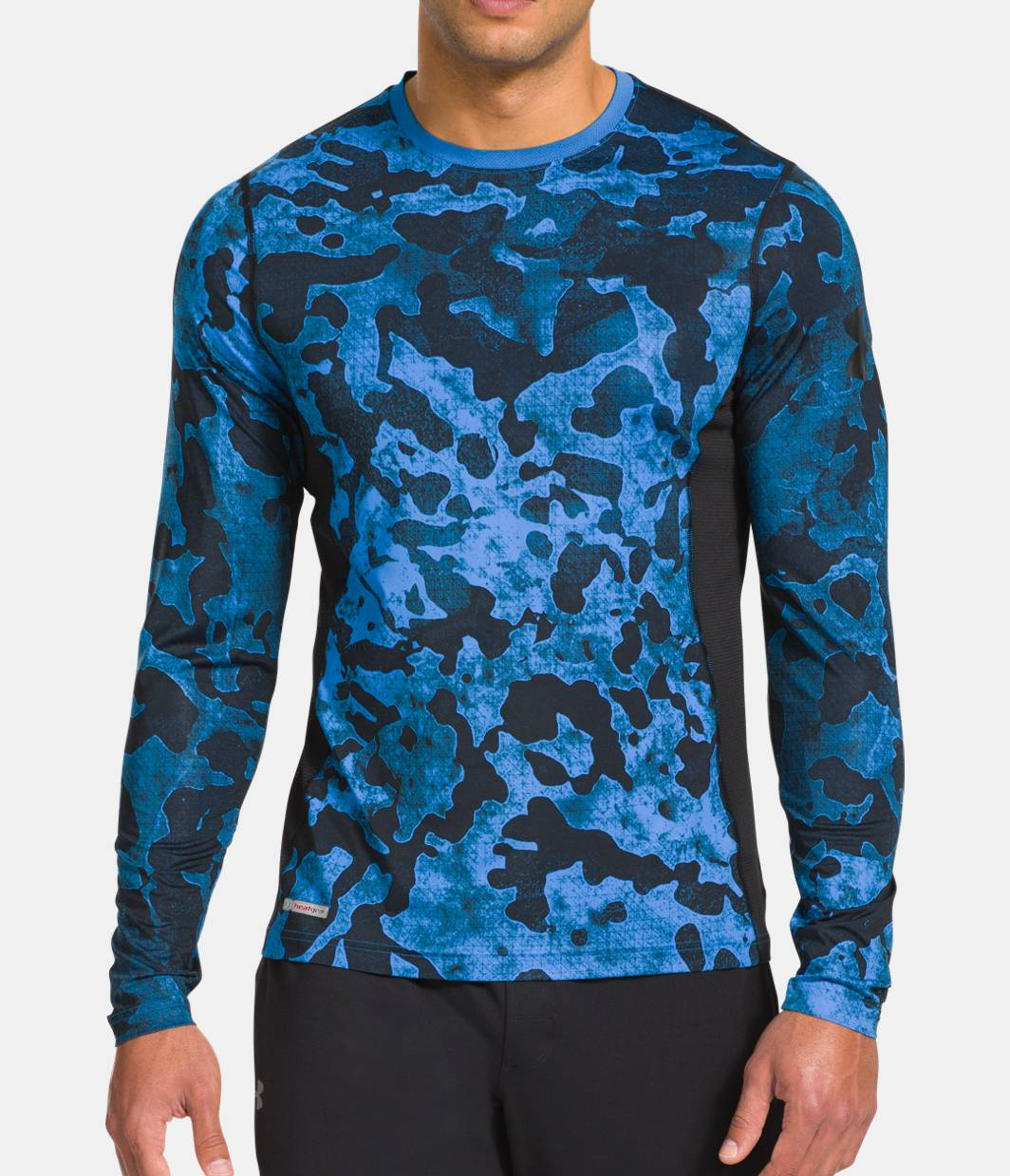 Men s ua heatgear sonic printed fitted t shirt under for Under armour fitted t shirt