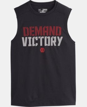 Boys' UA Combine® Training Demand Victory Sleeveless T-Shirt