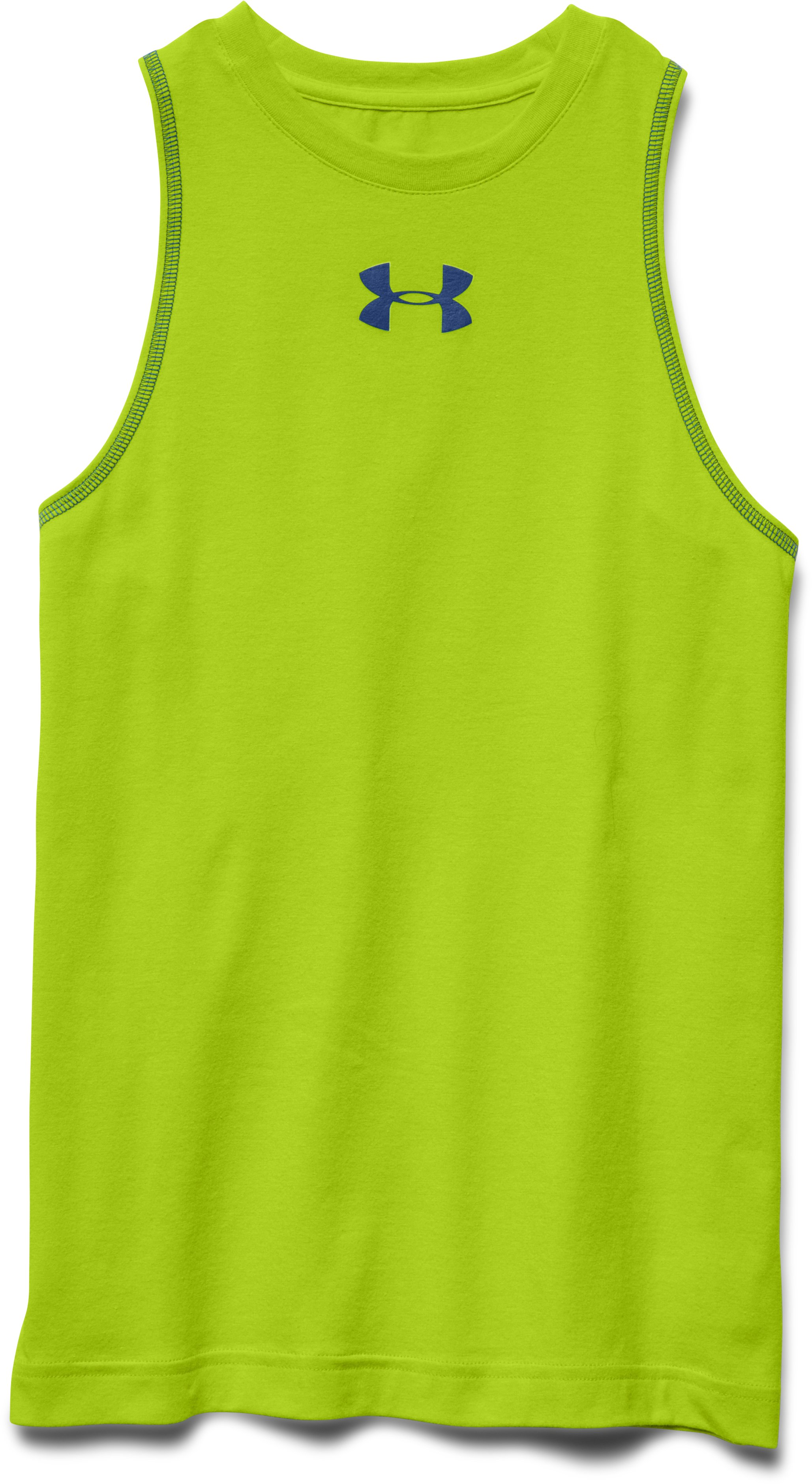 Boys' Charged Cotton® Tank, Velocity, Laydown