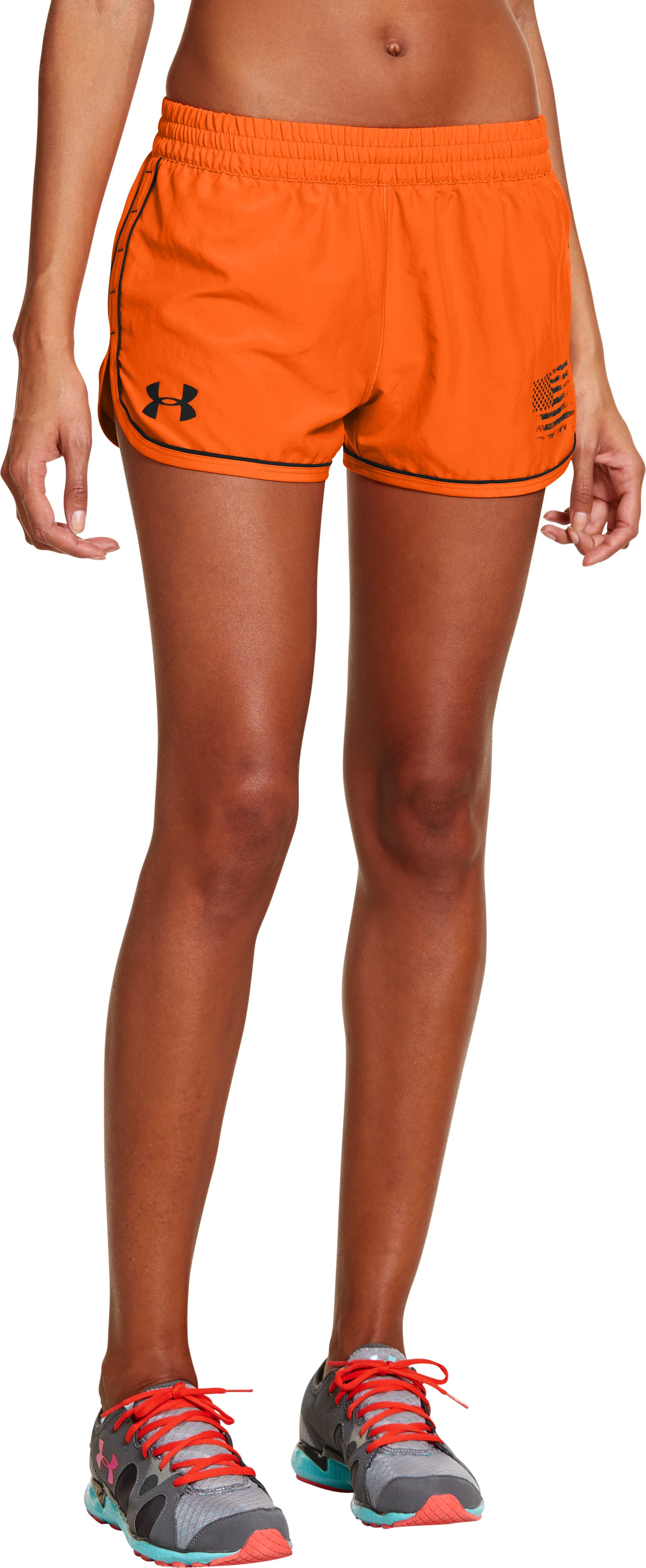 Women's Tough Mudder UA Great Escape II Shorts, Vivid, zoomed image