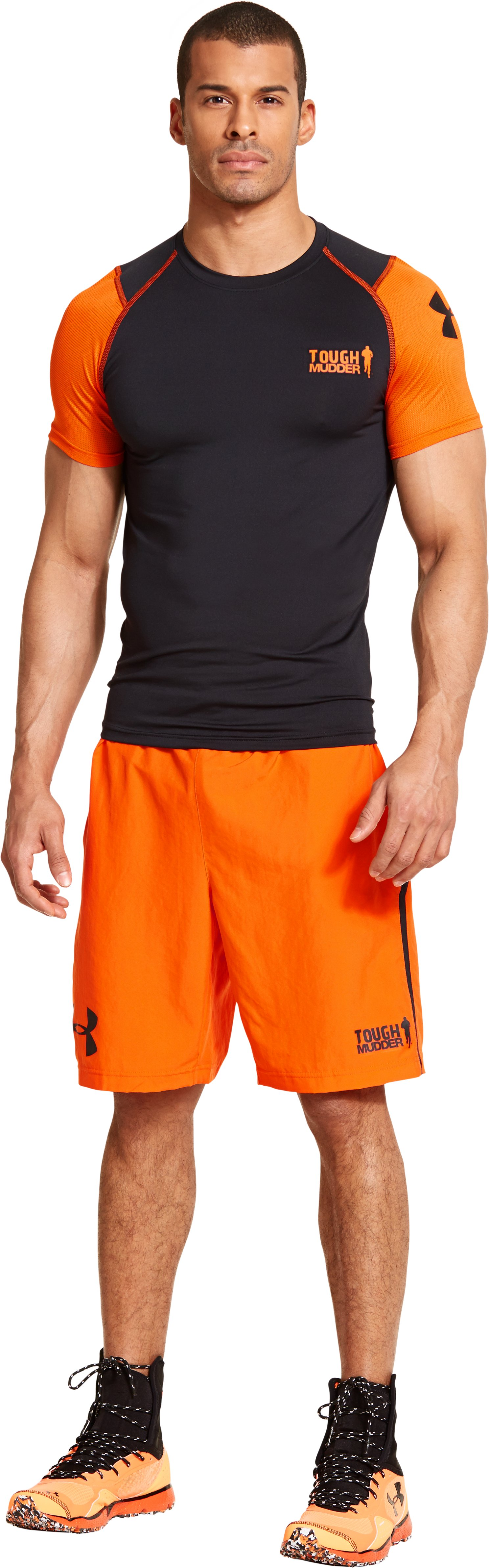 Men's UA Tough Mudder Obstacle Woven Shorts, Vivid, Front