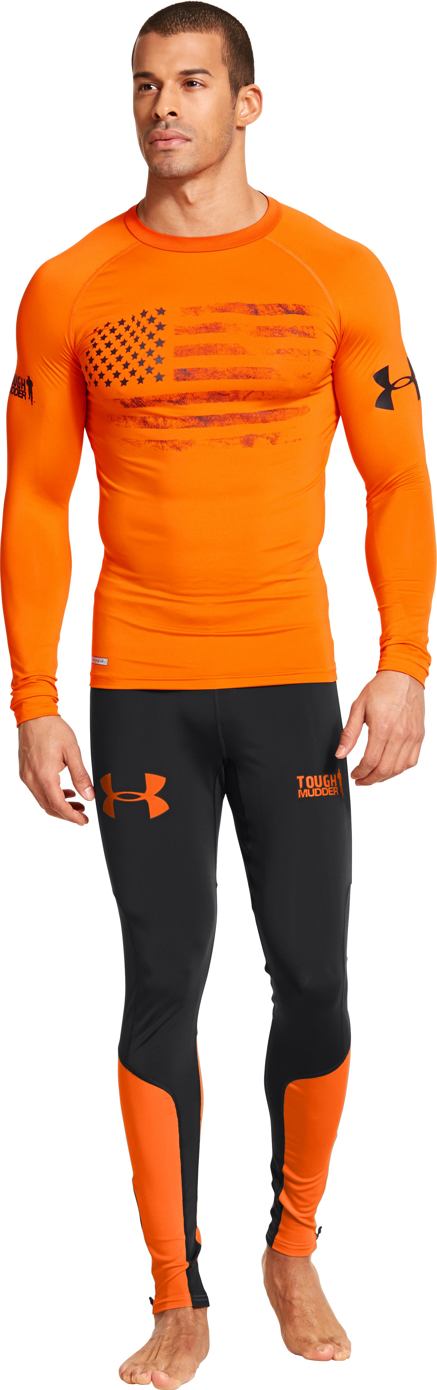 Men's UA Tough Mudder Obstacle Compression Leggings, Black , Front