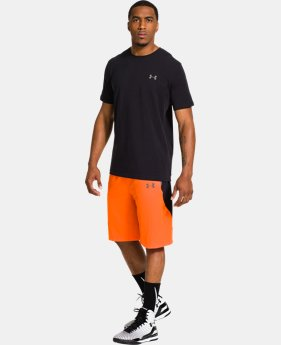 Men's HeatGear® ArmourVent™ Crossover Basketball Shorts LIMITED TIME: FREE U.S. SHIPPING  $44.99