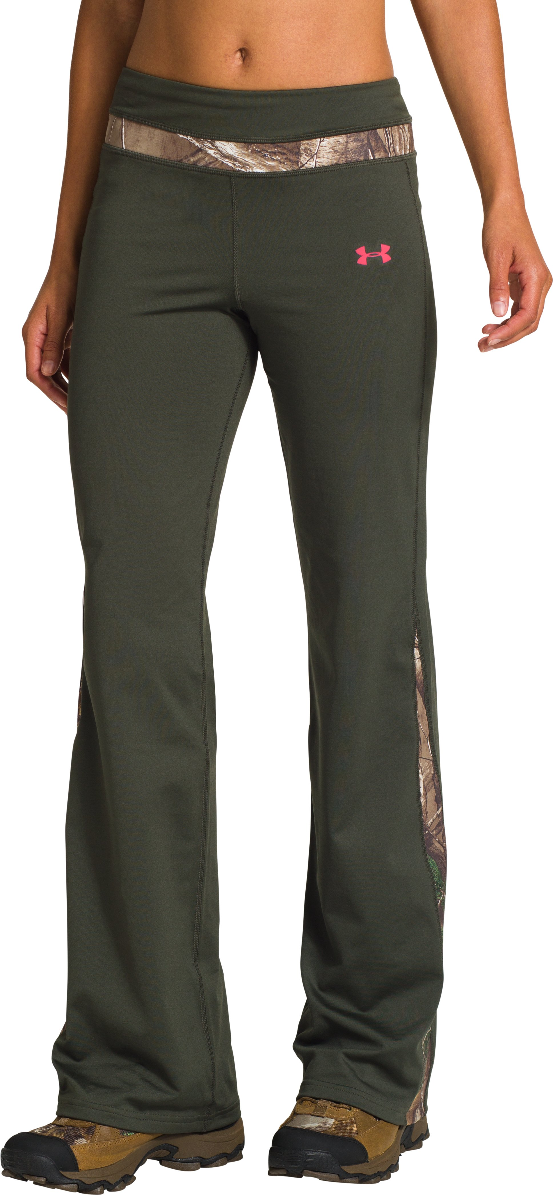 Women's ColdGear® EVO Camo-Trim Pant, Rifle Green