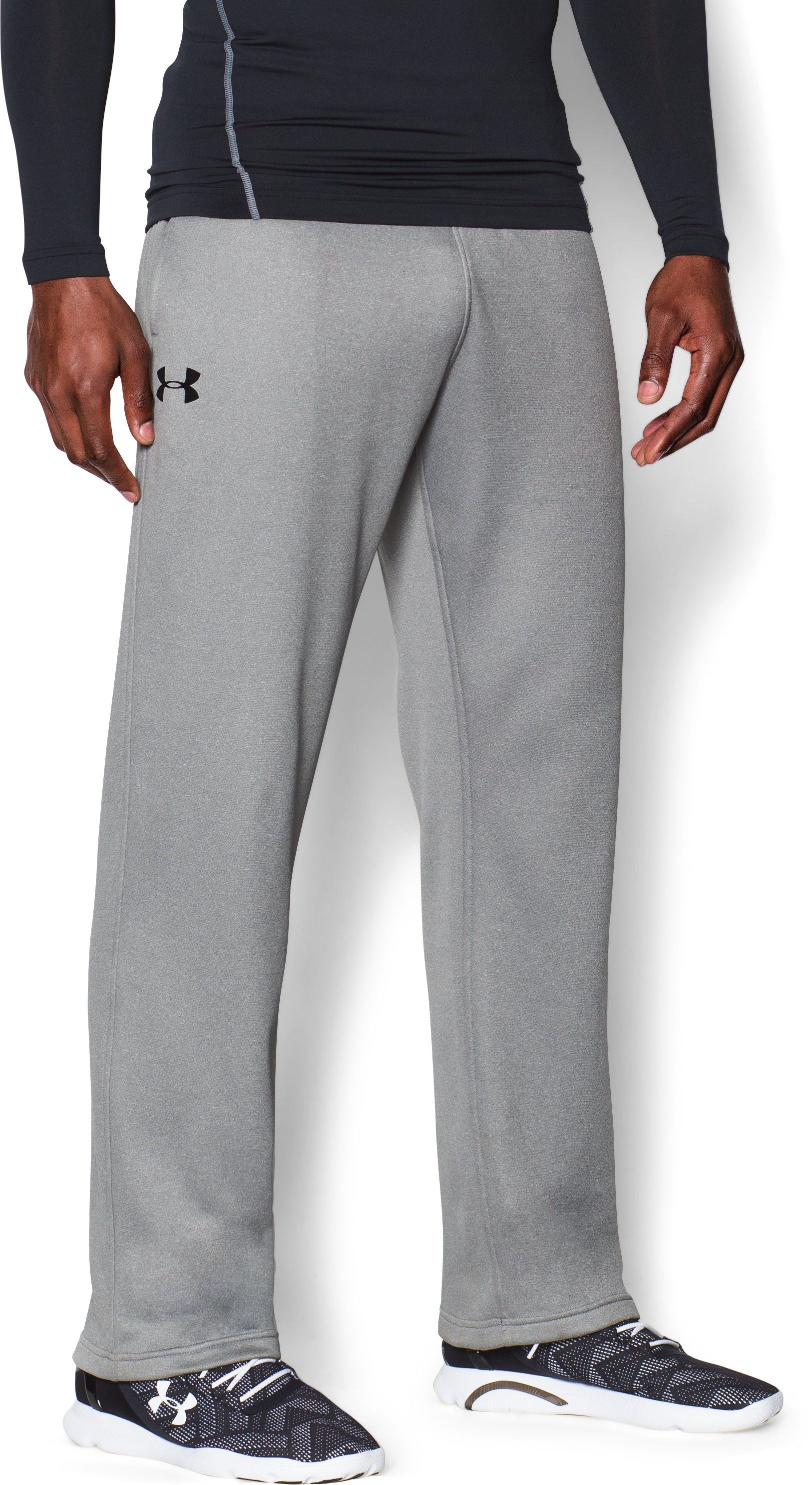 Men's Armour® Fleece In The Zone Pants, True Gray Heather, zoomed image