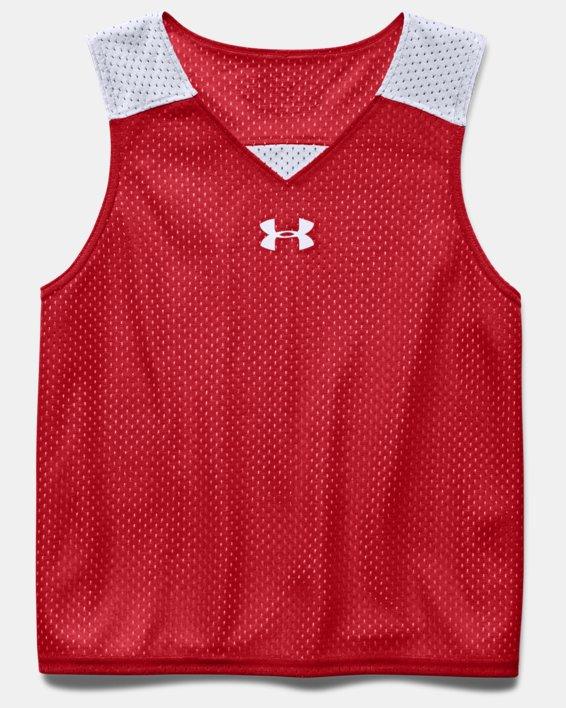 Boys' UA Lacrosse Reversible Pinny, Red, pdpMainDesktop image number 2