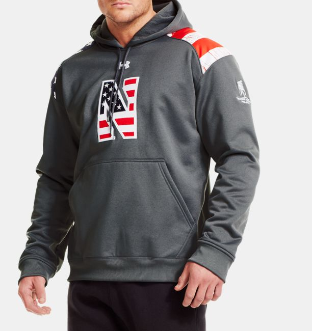 Men s Northwestern Wounded Warrior Project Armour® Fleece Hoodie ... cc4b912df3e