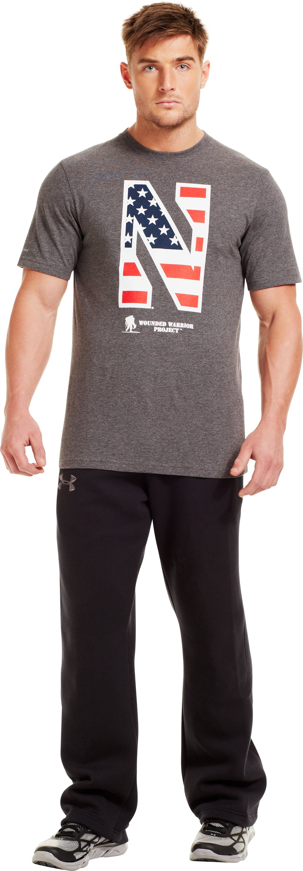 Men's Northwestern Wounded Warrior Project T-Shirt, Carbon Heather