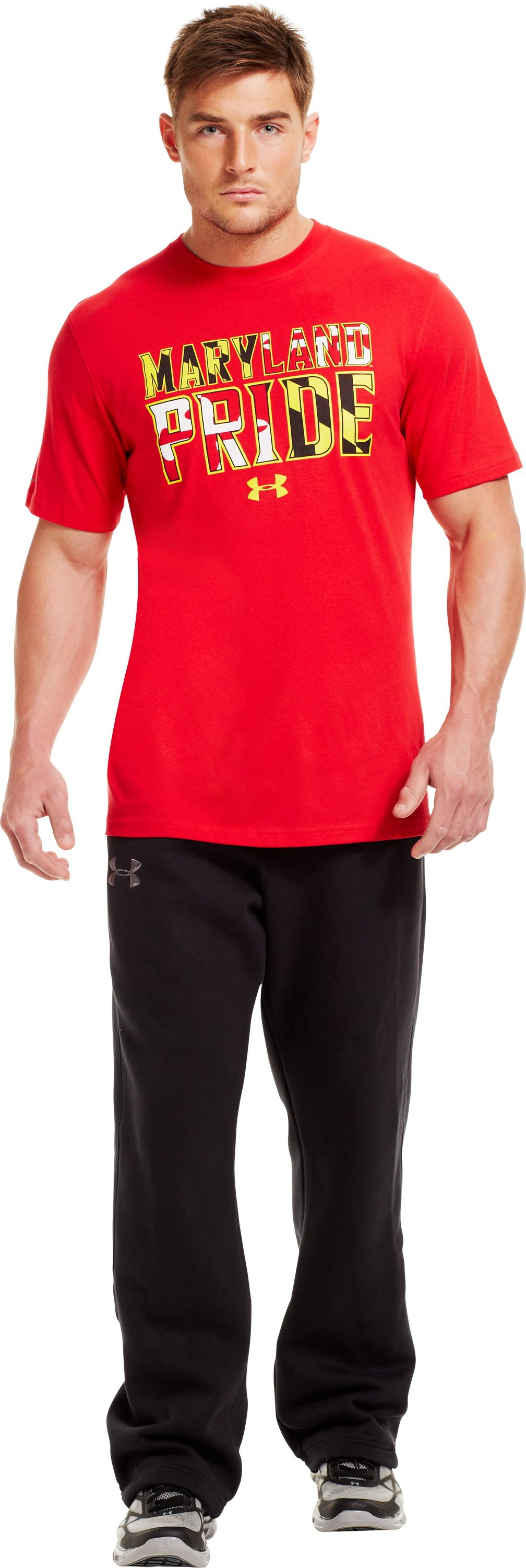 Men's UA Maryland Pride T-Shirt, Red, Front