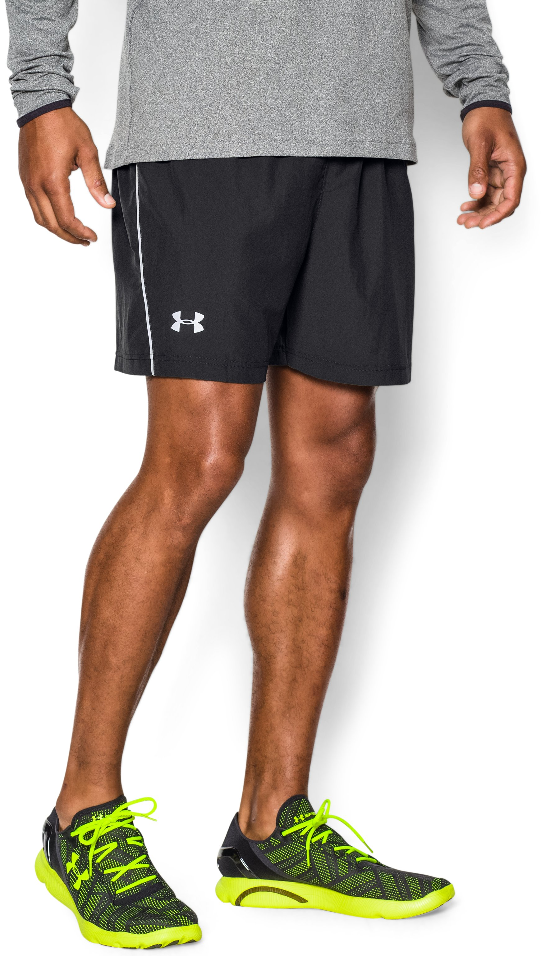 "Men's UA Launch Run Woven 5"" Shorts, Black , undefined"