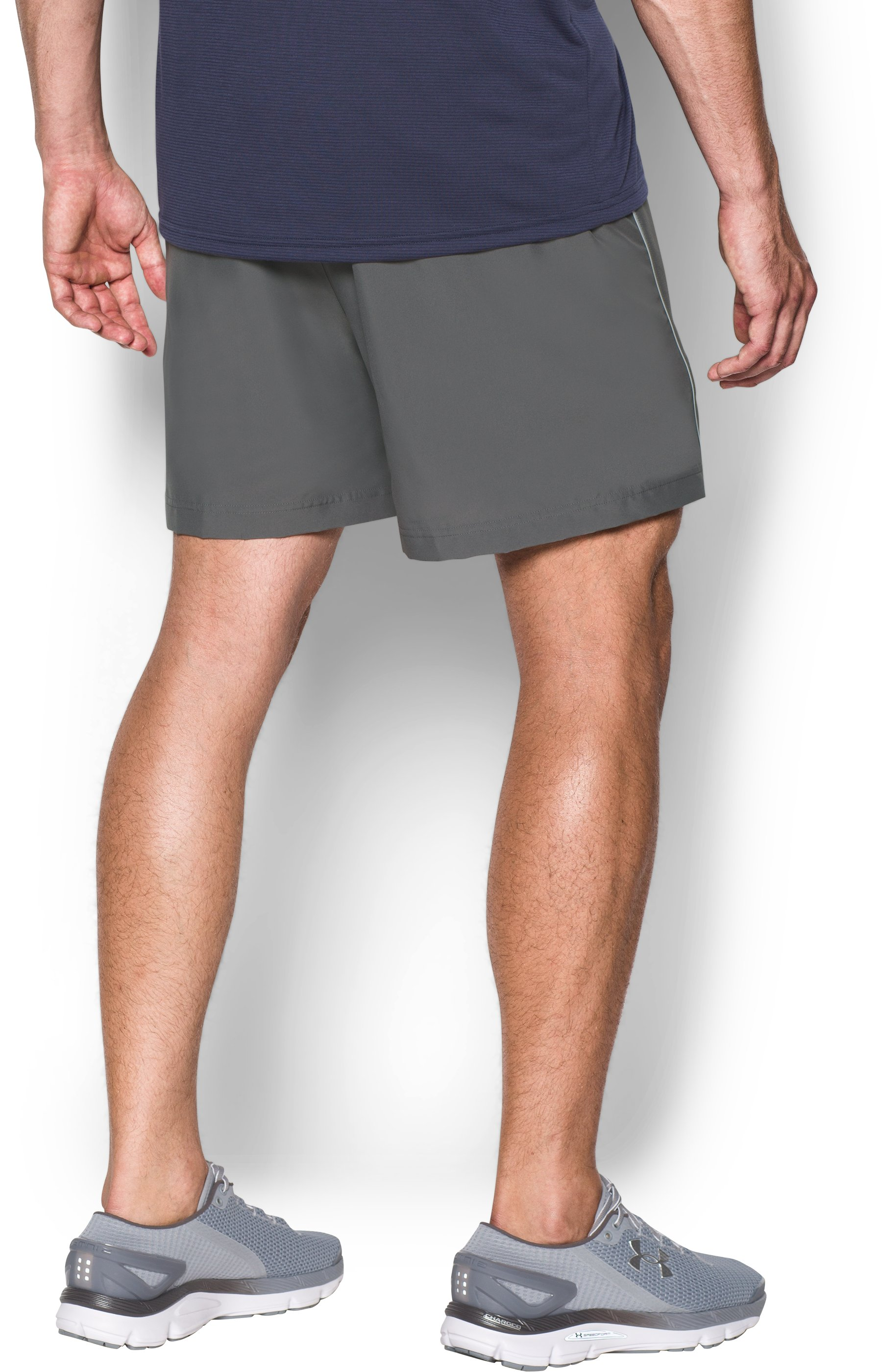 "Men's UA Launch Run Woven 5"" Shorts, Graphite, undefined"