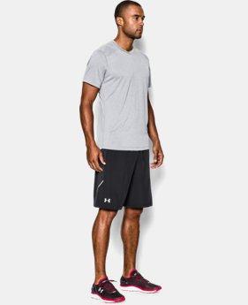 "Men's UA Launch Stretch Woven 9"" Run Shorts   $44.99"