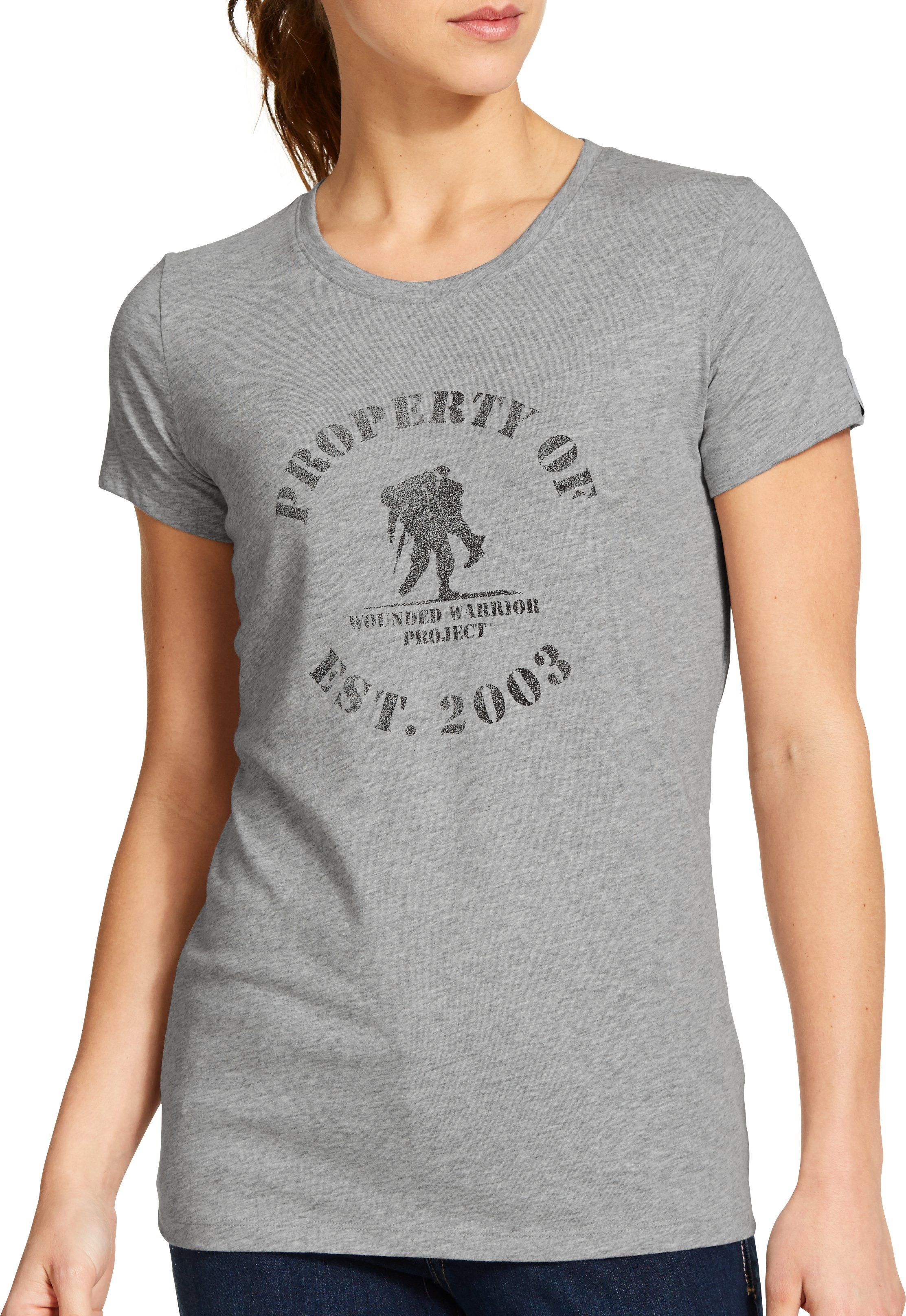 Women's WWP Property Of T-Shirt, True Gray Heather, Front
