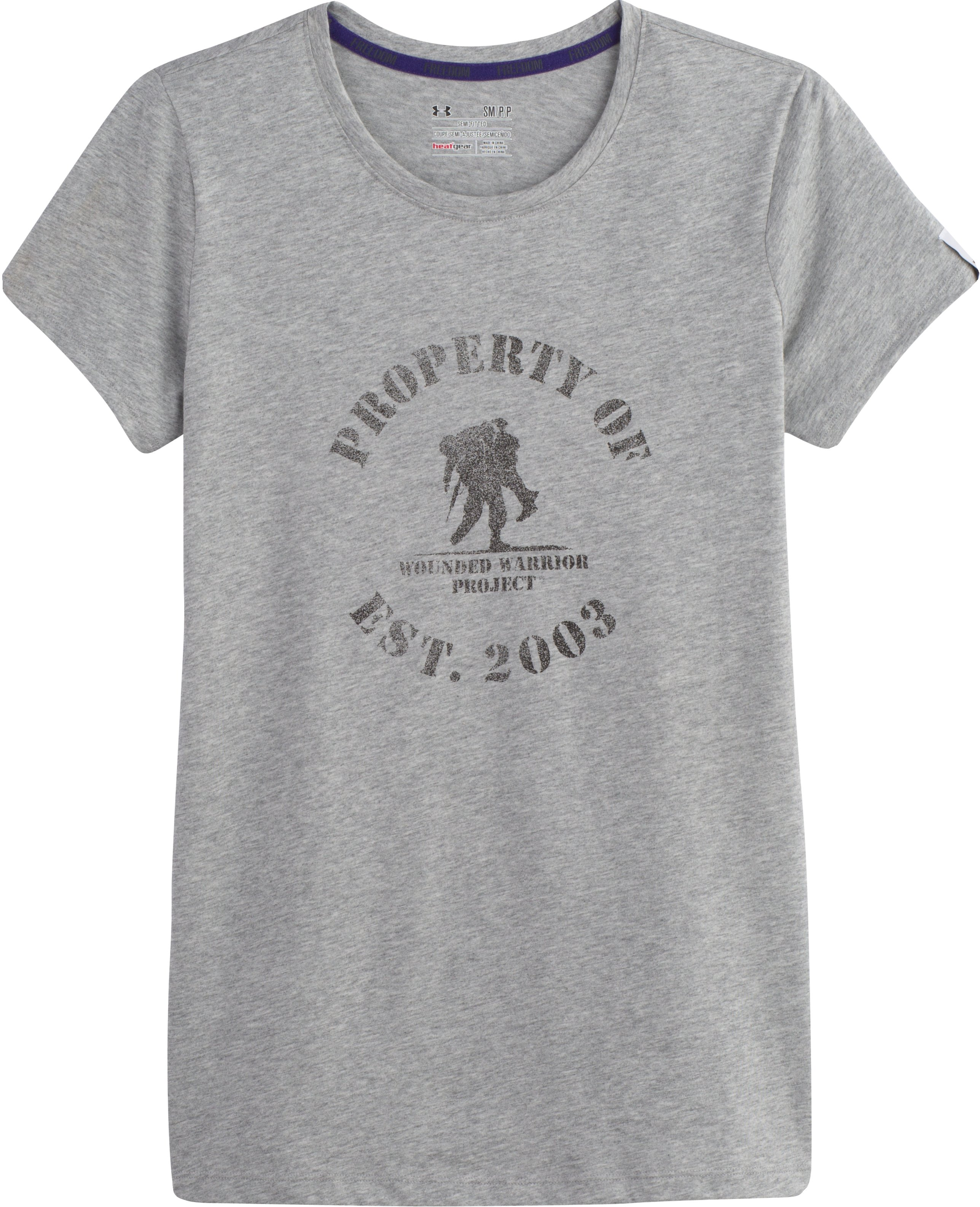 Women's WWP Property Of T-Shirt, True Gray Heather, Laydown