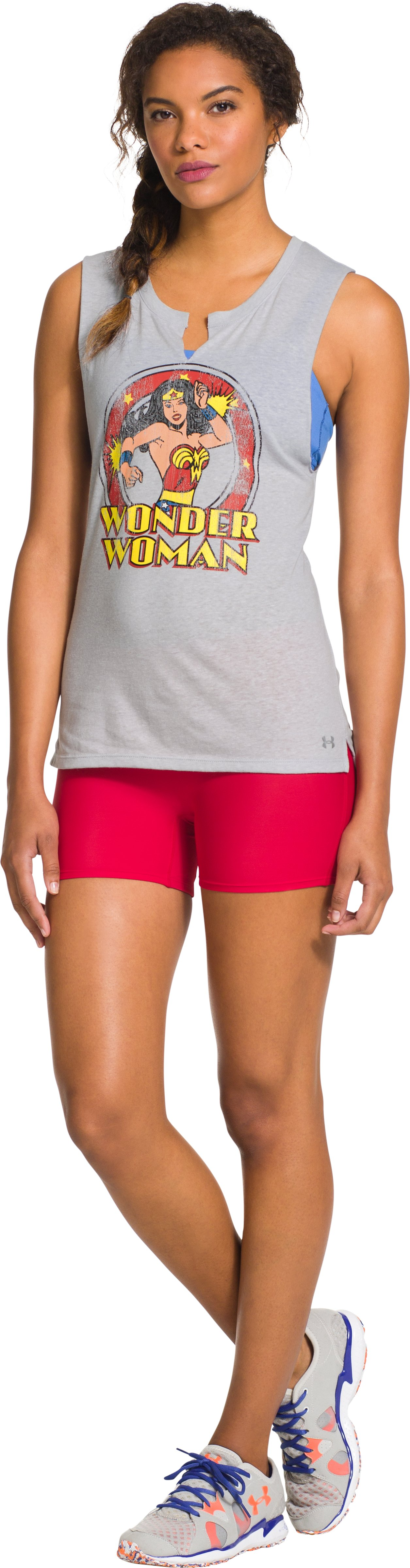 Women's Under Armour® Alter Ego Wonder Woman Sleeveless Crew, Aluminum, Front
