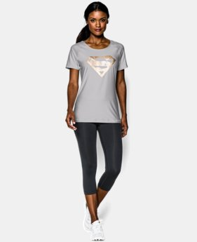 Women's Under Armour® Alter Ego HeatGear® Sonic Shimmer Supergirl T-Shirt