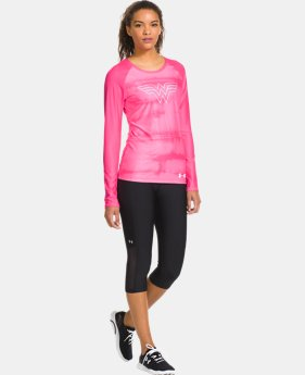 Women's UA HeatGear® Sonic Wonder Woman Long Sleeve