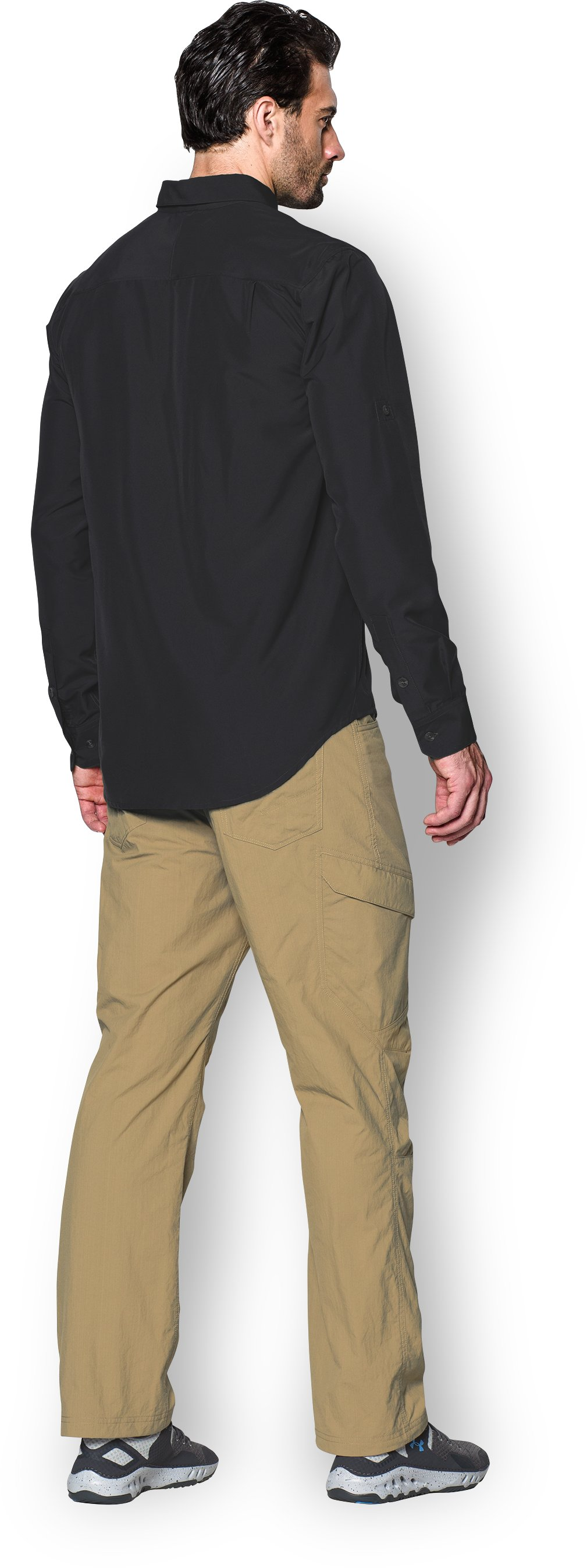 Men's UA Chesapeake Long Sleeve Shirt, Black , Back