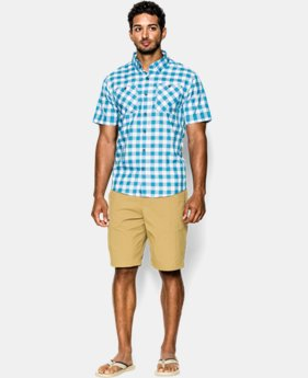Men's UA Chesapeake Patterned Short Sleeve Shirt  1 Color $39.74