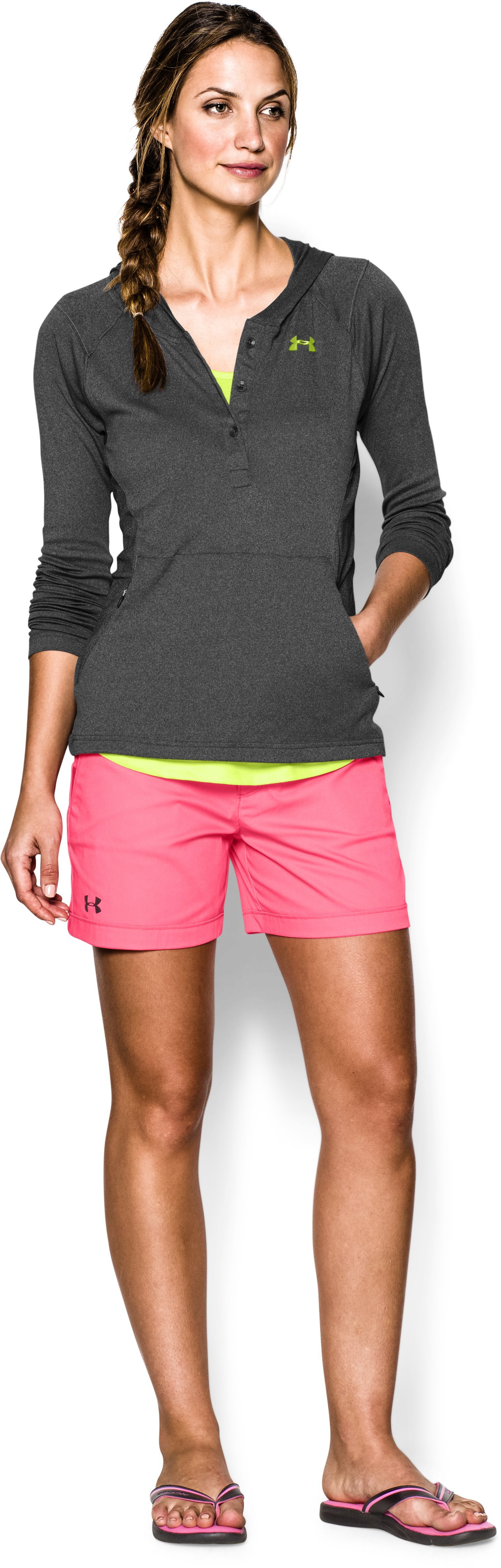 Women's UA Iso-Chill Meridian Hoody, Carbon Heather