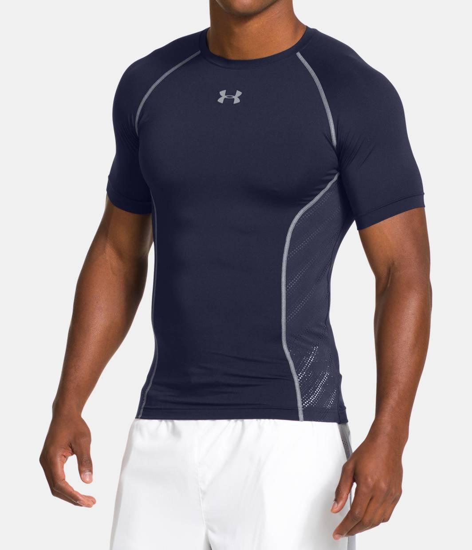 Men s ua heatgear sonic armourvent compression t shirt for Under armour men s heatgear sonic fitted t shirt