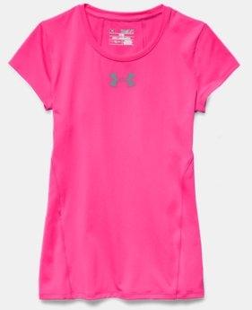 Girls' UA Armour Short Sleeve