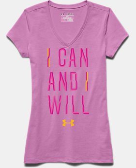 Girls' UA I Can And I Will V-Neck