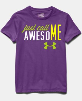 Girls' UA Just Call Me Awesome T-Shirt