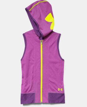 Girls' UA Inside Out Sleeveless Hoodie  1 Color $25.99