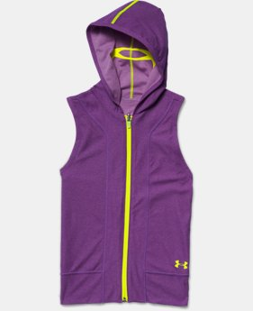 Girls' UA Inside Out Sleeveless Hoodie