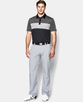 Men's UA coldblack® Major Stripe Polo
