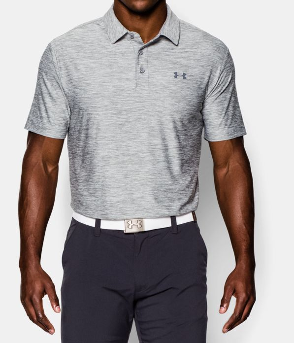 Men 39 s ua playoff polo under armour us for Gray under armour shirt