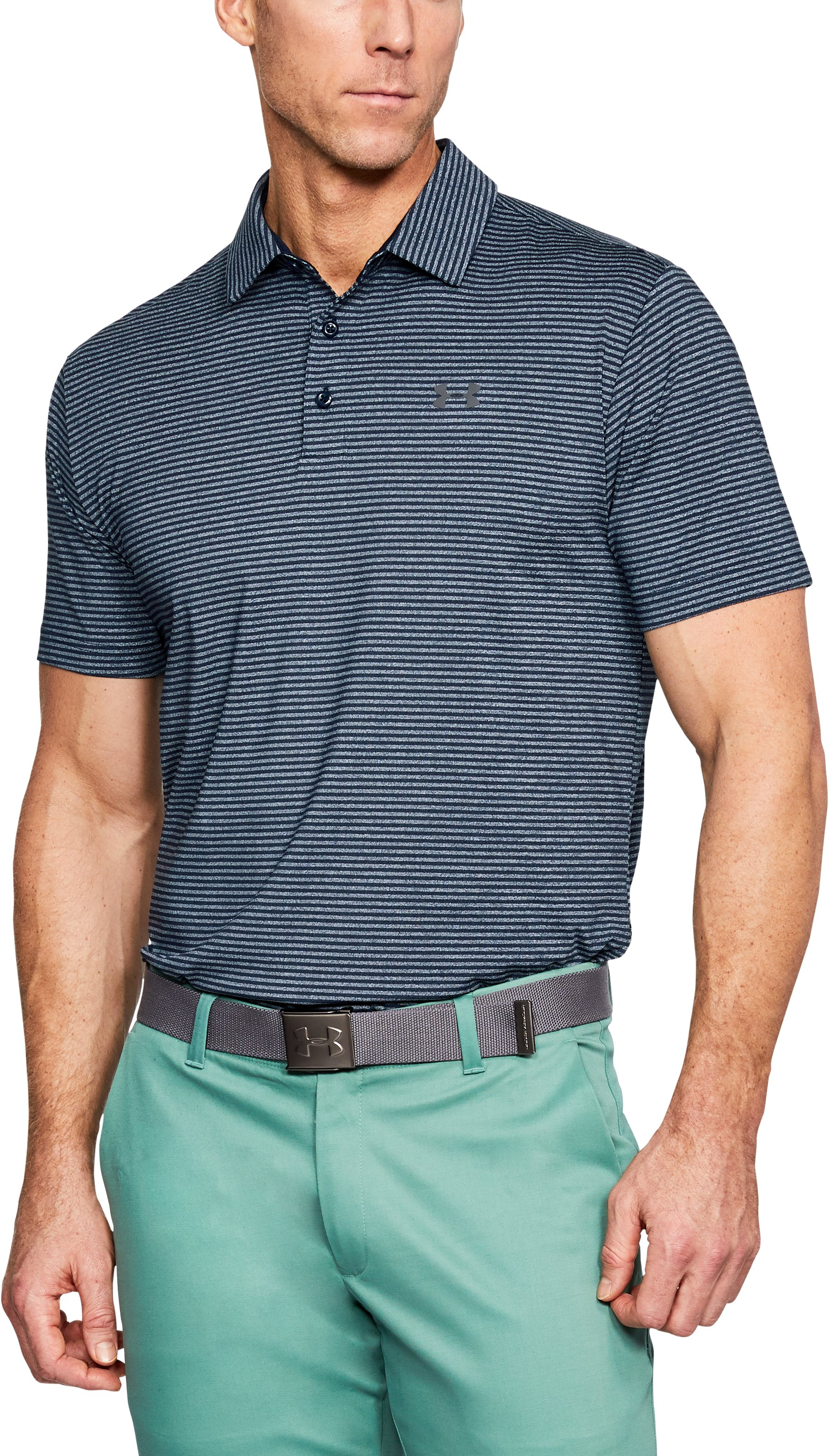 Men's UA Playoff Polo, Academy, undefined