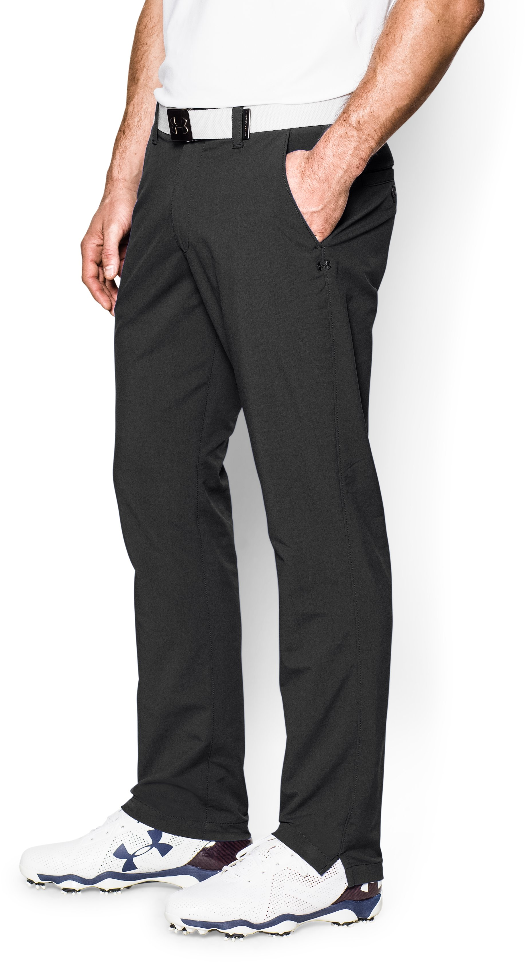 Men's UA Match Play Golf Pants – Tapered Leg, Black , zoomed image