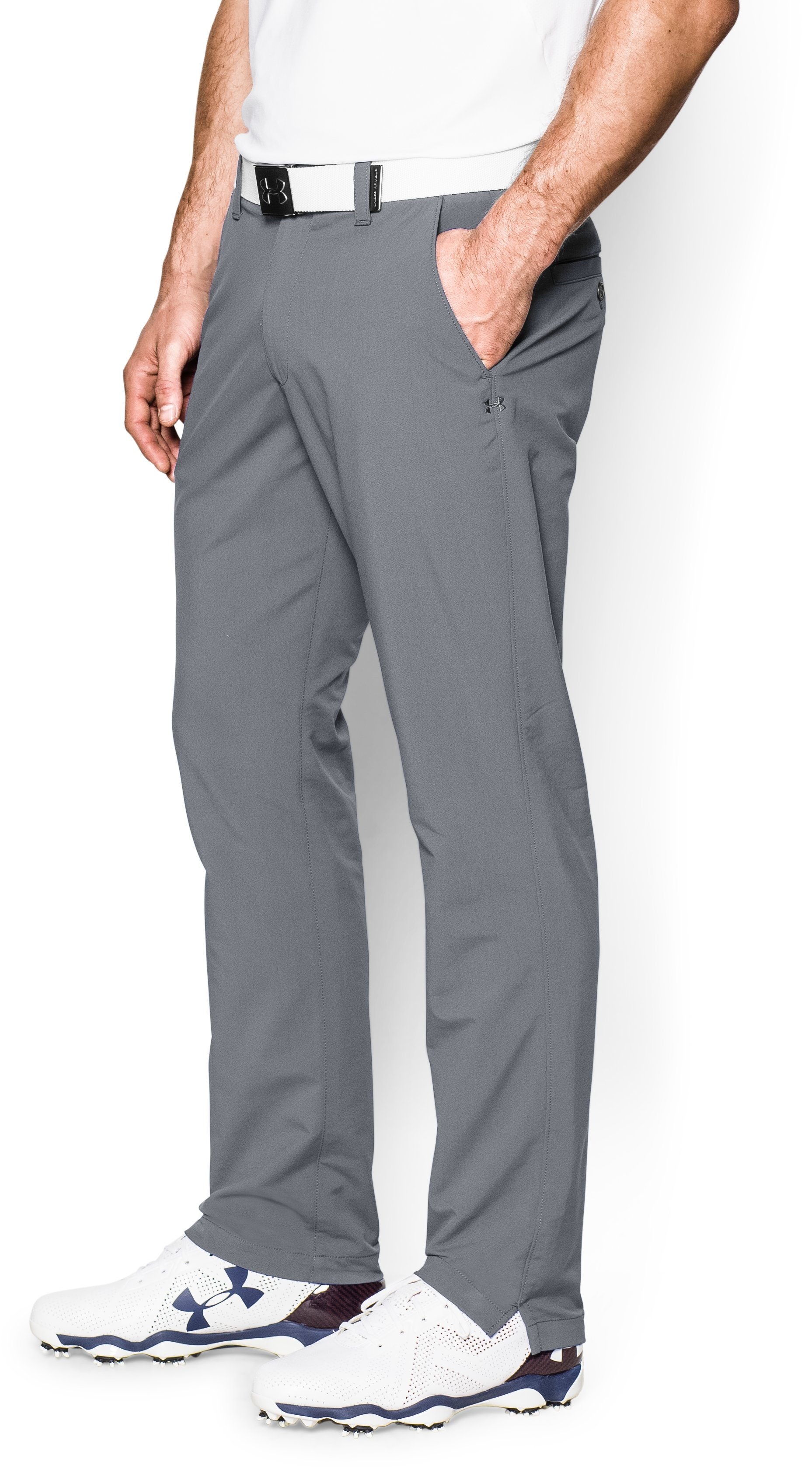 Men's UA Match Play Golf Pants Tapered, Steel, undefined