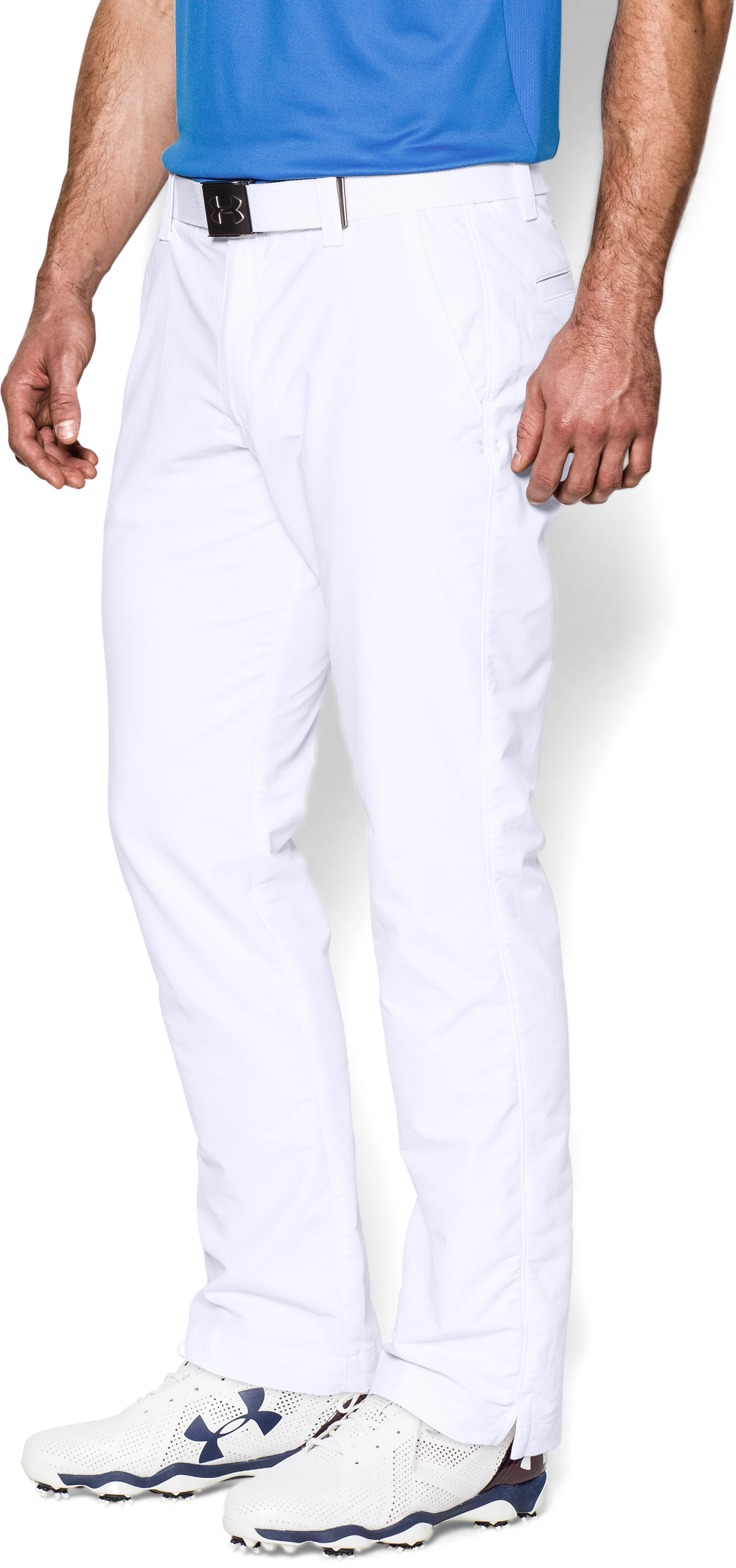 Men's UA Match Play Golf Pants — Tapered Leg, White