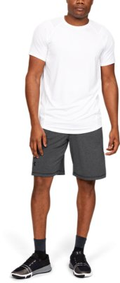 NWT Under Armour Mens Raid 10-inch Workout Gym Shorts Black 1291321 L Large