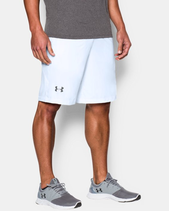 """Men's UA Raid 10"""" Shorts, White, pdpMainDesktop image number 4"""