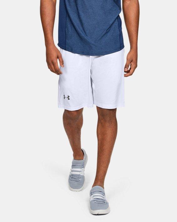 """Men's UA Raid 10"""" Shorts, White, pdpMainDesktop image number 0"""