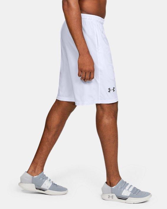 """Men's UA Raid 10"""" Shorts, White, pdpMainDesktop image number 6"""