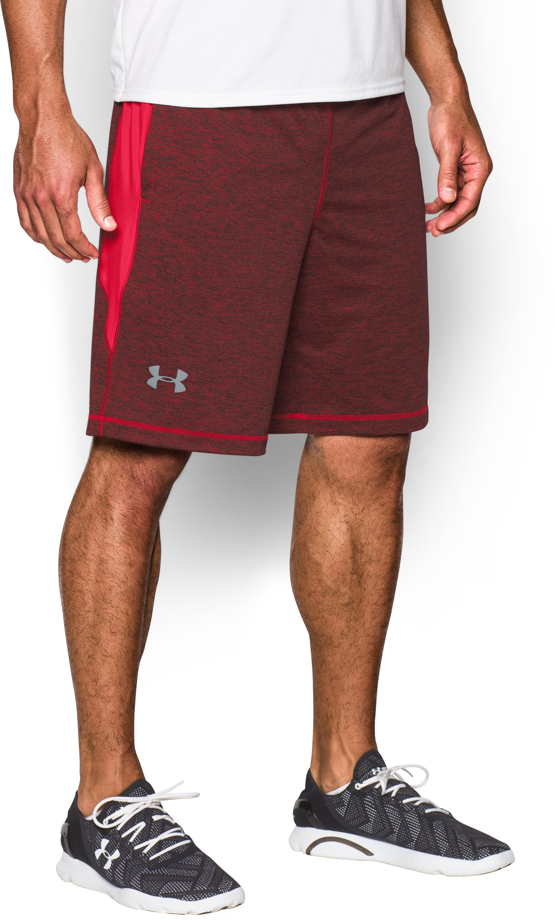 "Men's UA Raid Printed 10"" Shorts, Red, undefined"