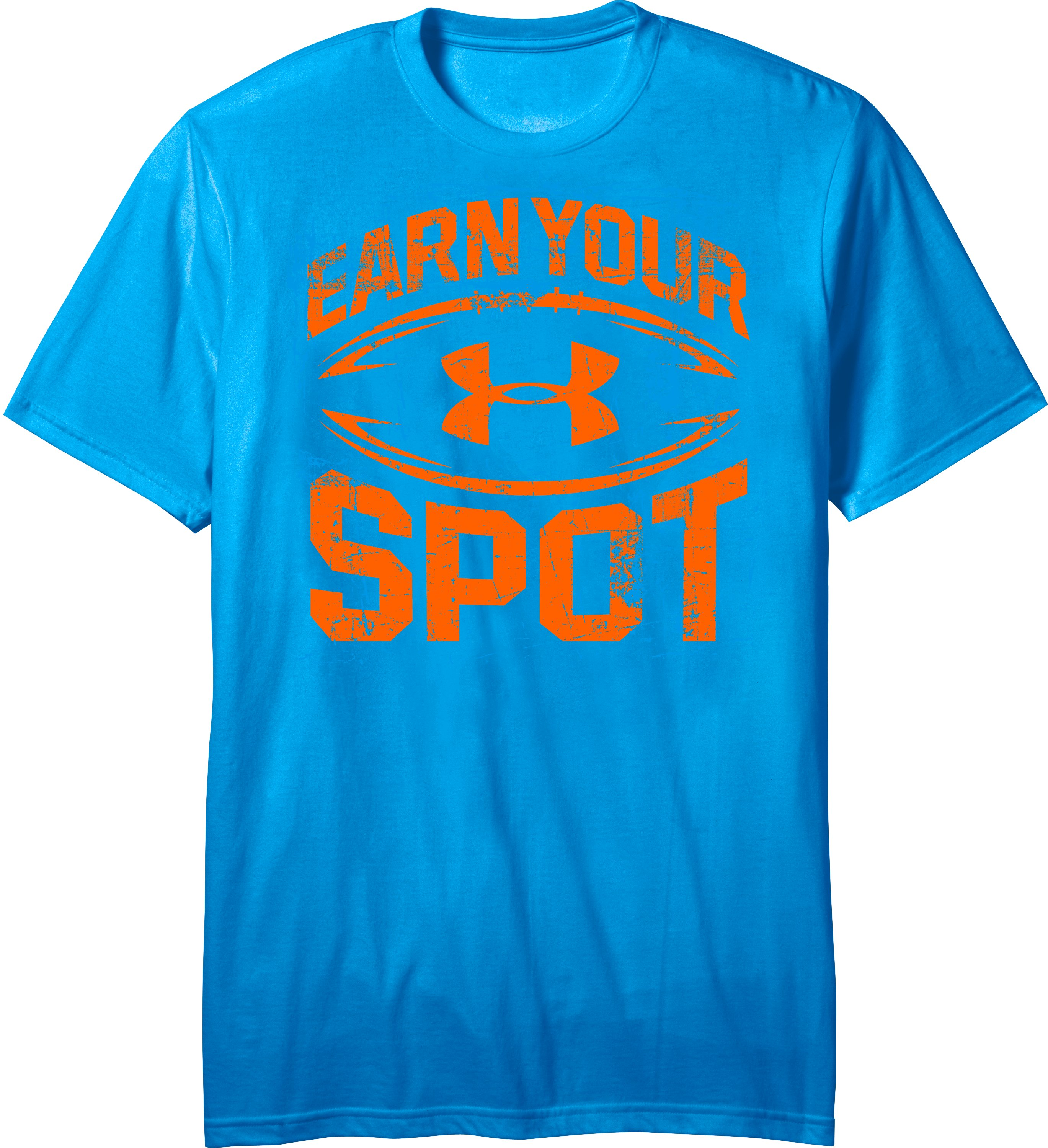 Men's UA Earn Your Spot T-Shirt, SNORKEL, Laydown